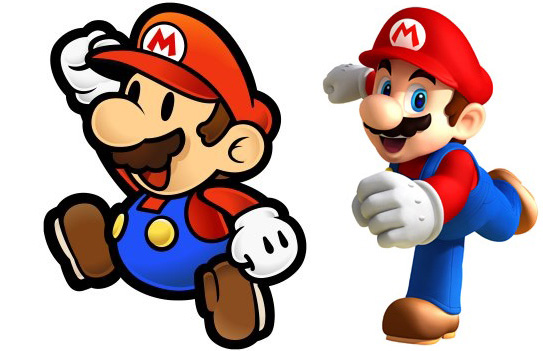 2D and 3D animation mario