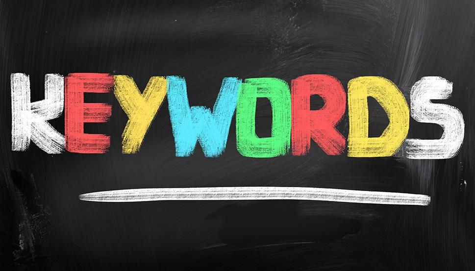 Keywords text Goolge colors