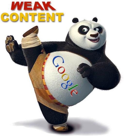 Weak content with Google panda