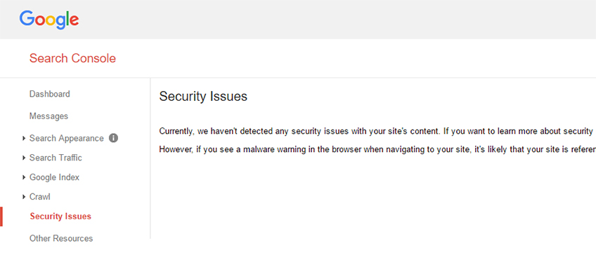 google-console-security-issues