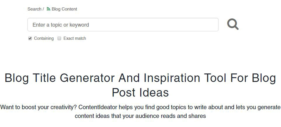 tools that help create awesome blog writing topics contentideator