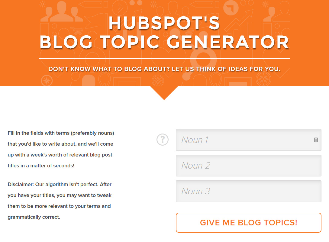 HubSpots-Blog-Topic-Generator